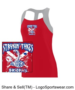 Girls Jazzy Open Back Tank Design Zoom